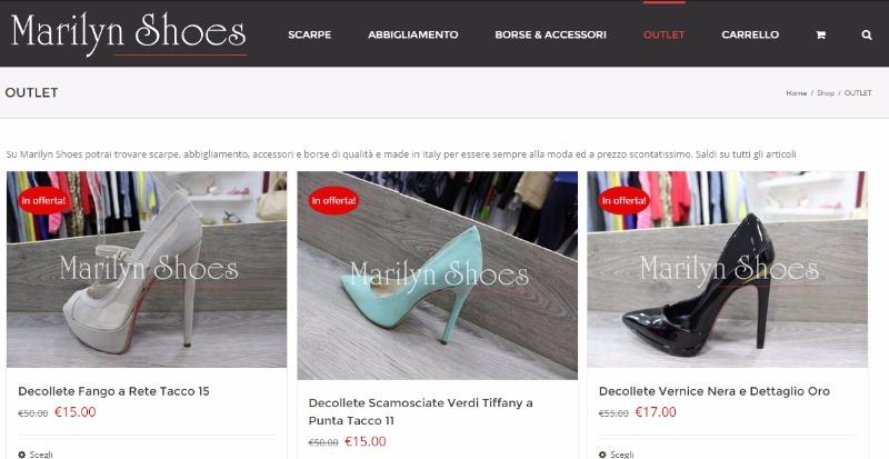 Il Nostro OUTLET: acquista tanti prodotti a prezzi bassissimi su www.marilynshoes.it