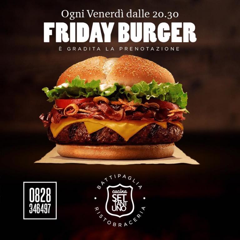 Friday Burger, ogni Venerdì dalle 20.30