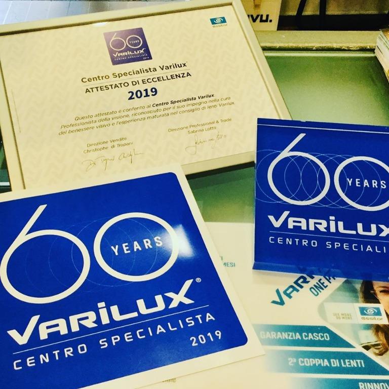Attestato di Eccellenza - Centro Specialista Varilux