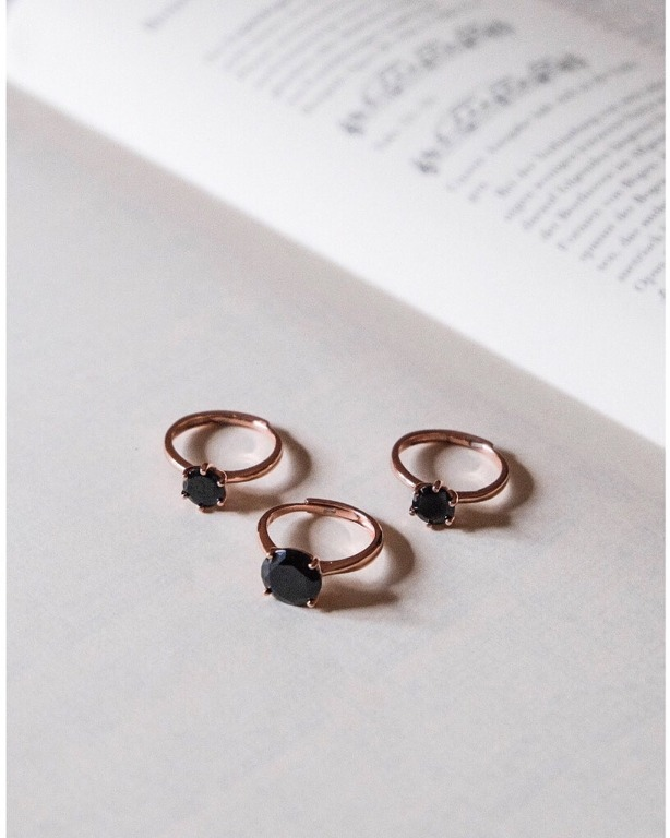 anello BlackSoul in argento 925 rosegold,