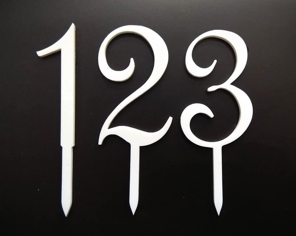 Serie numerica in plexiglass nero/bianco