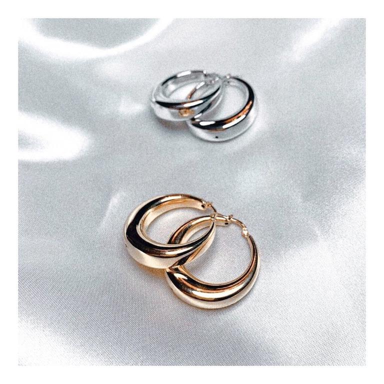 Coppia di orecchini in argento 925 (silver & gold) a goccia
