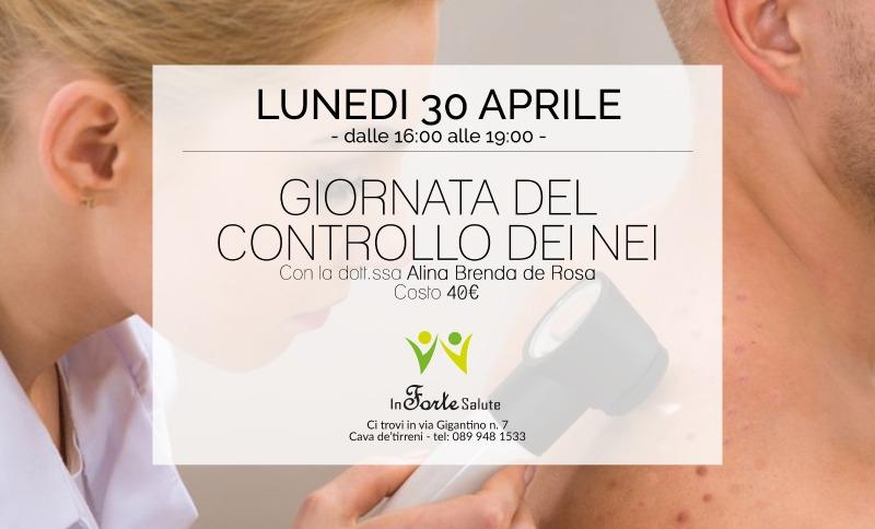 Lunedì 30 Aprile - Giornata del Controllo dei Nei