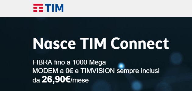 TIM connect a soli 26,90€ al mese