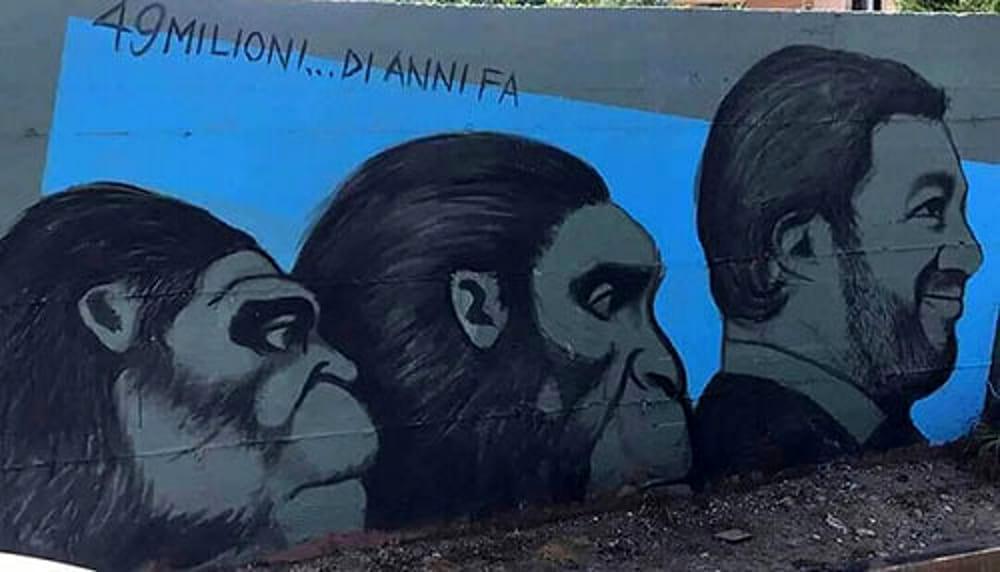 Polemiche a Baronissi per un murales in cui compariva Salvini. Il Sindaco lo fa cancellare