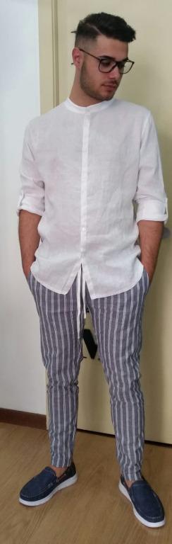 Camicia lino coreana euro 19,00 Pantalone lino euro 18,00