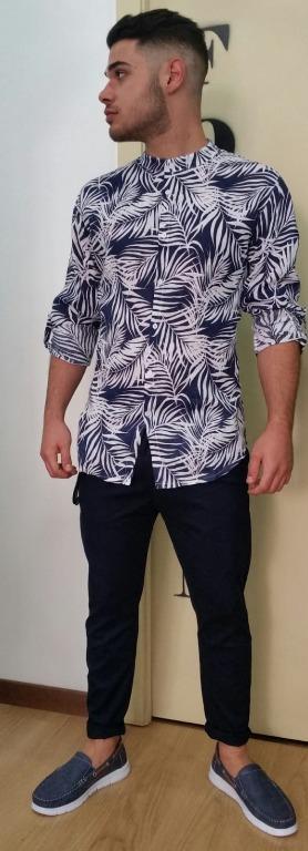 Camicia lino coreana euro 23,00 Pantalone  euro 15,00 Mocassini euro 15,00