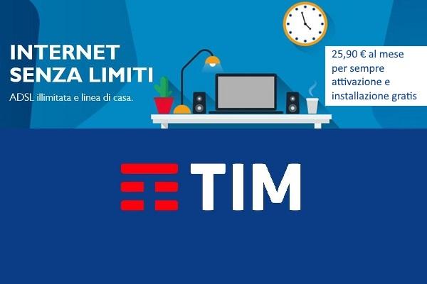 Internet senza limiti e linea telefonica a 25,90 € al mese per sempre