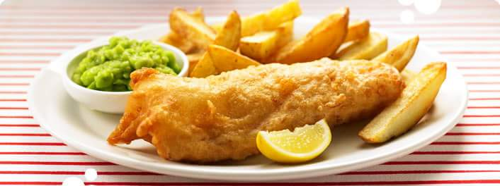 Fish and chips in pastella di birra