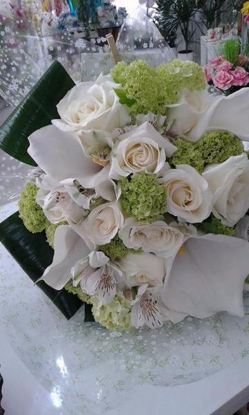 Bouquet Rose, Ortensie, Calle ed Astromelie