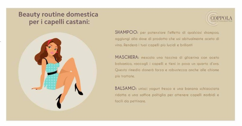 Beauty routine domestica per capelli castani