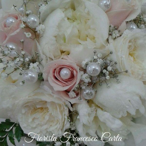 Bouquet sposa Peonia Rose e Perle
