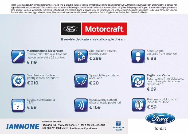 Offerte Ford Motorcraft Service 4+