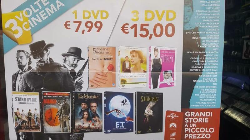 Promozione su tantissimi film in DVD