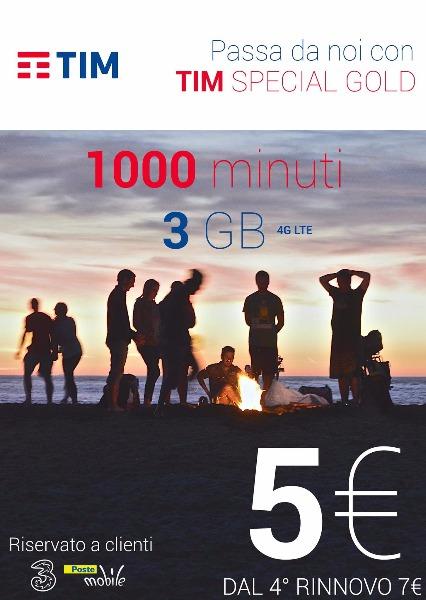 Passa a Tim 1000 minuti 3 gb a soli 5€