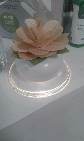 Nuova giara Muhà in ceramica con base illuminata a led
