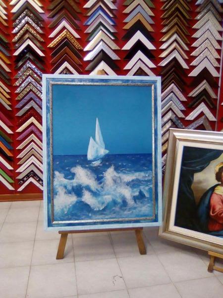 Spettacolare 60/80 olio su tela di una nota artista campana