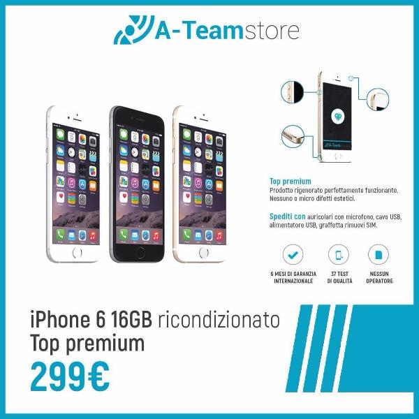 iPhone 6 16gb ricondizionato a soli 299€