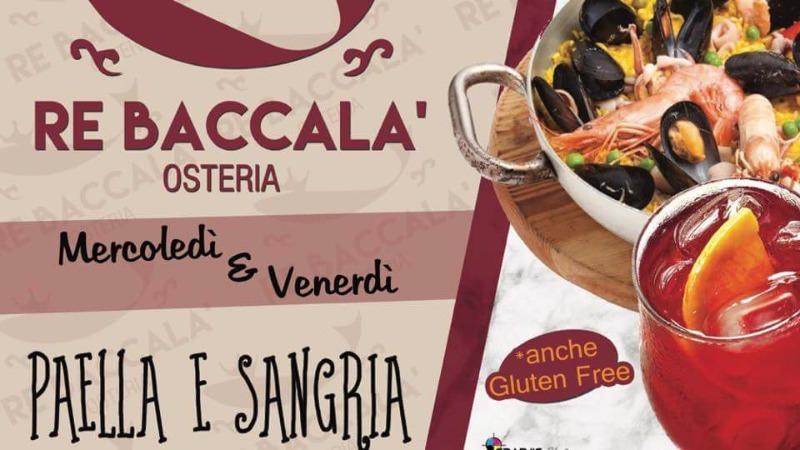 Mercoledì e venerdì Paella e Sangria