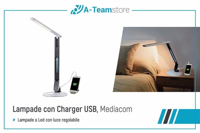 Lampade con charger USB Mediacom