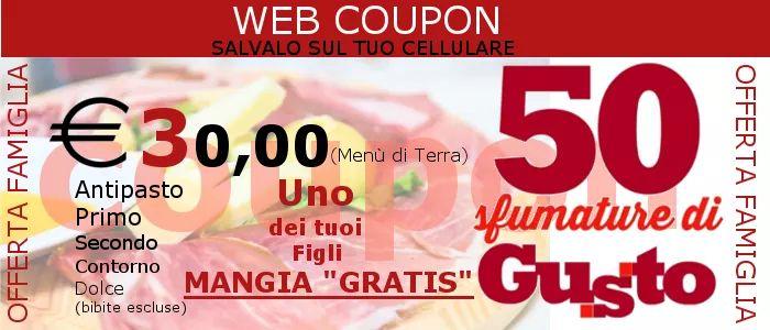 Offerta Famiglia € 30 WEB COUPON