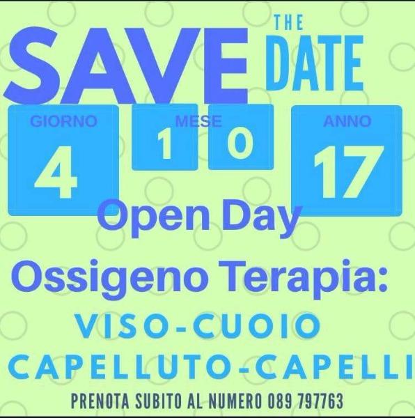 4 ottobre 2017 OPEN DAY: Ossigeno terapia viso, cuoio capelluto, capelli