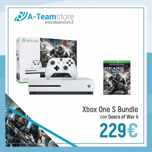 X Box One S bundle con Gears of War 4 € 229