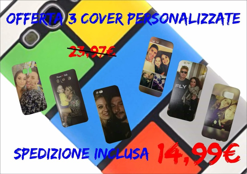 Offerta 3 cover personalizzate 14,99€ invece di 23,97€ spedizione inclusa