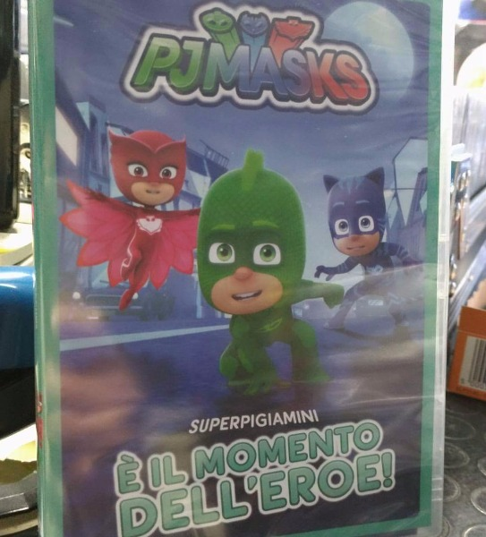 Il DVD PJmasks disponibile