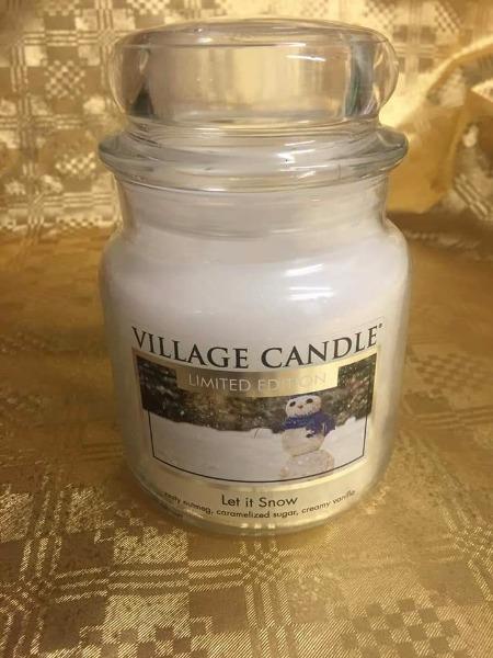 Village Candle Let it Snow
