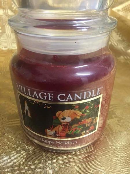 Village Candle Happy holydays