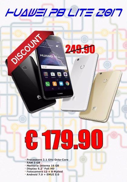 P8 Lite 2017 Bianco/Nero €179.99