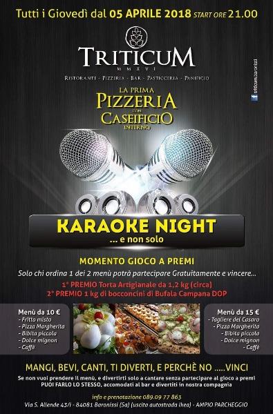 Tutti i giovedì Karaoke e Gioco a premi