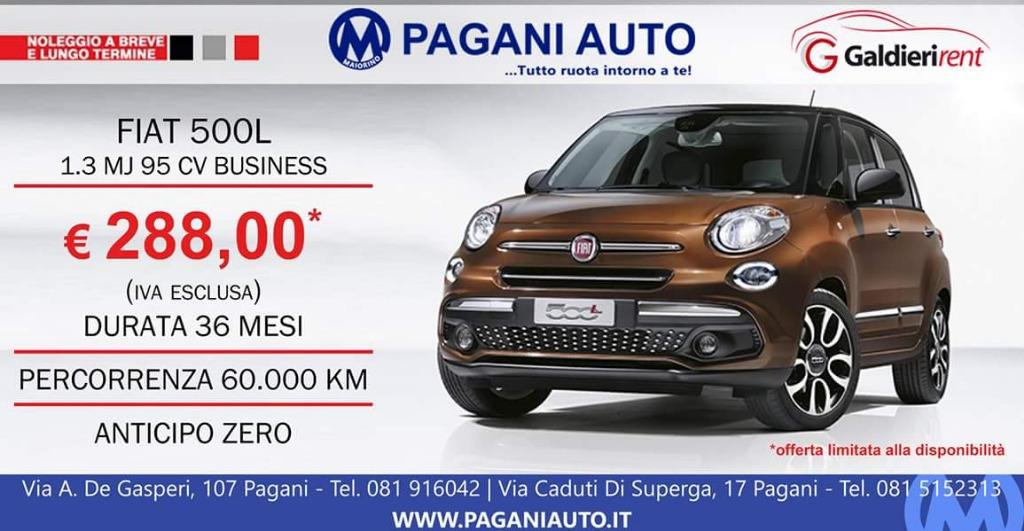 Noleggio Fiat 500L a 288 € al mese