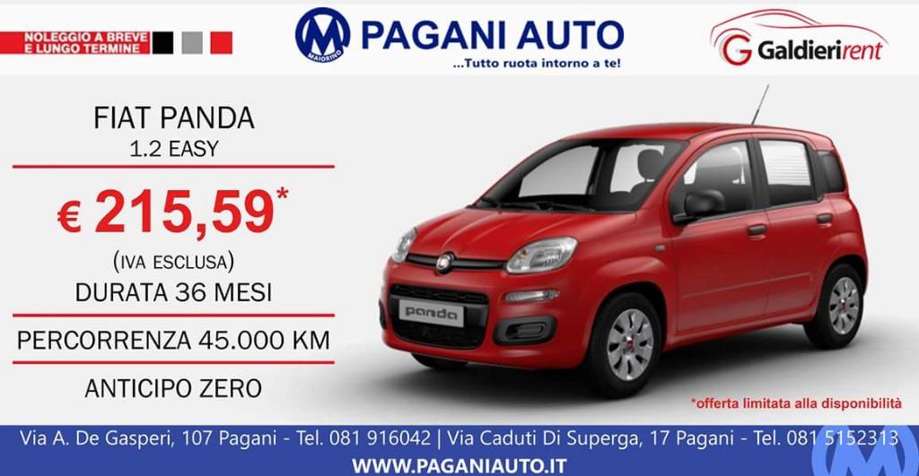 Noleggio Fiat Panda 215,59 € al mese