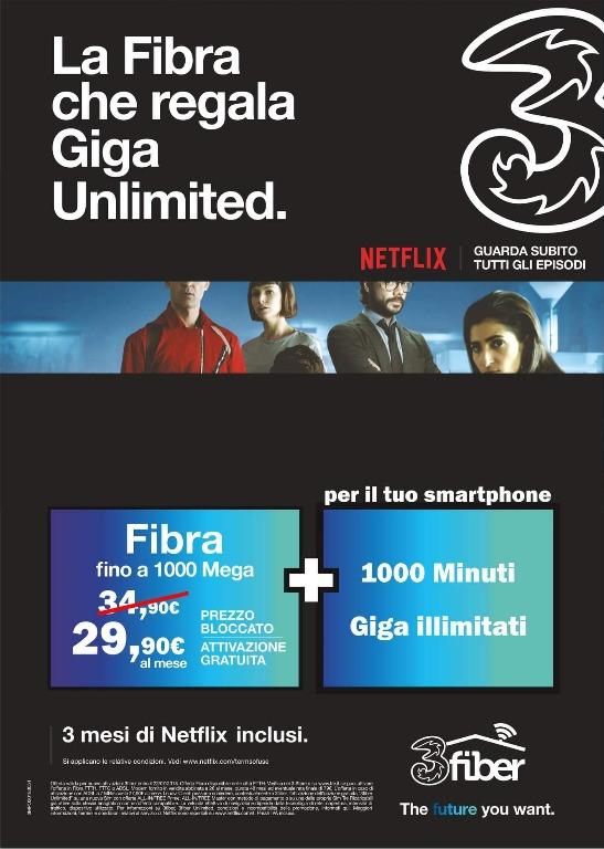 Fibra fino a 1000 Mega + 1000 Minuti e Giga Illimitati sul tuo smartphone