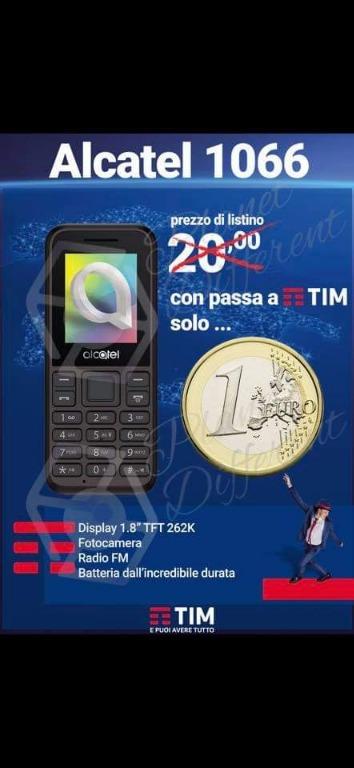 Alcatel 1066 a solo 1€ con passa a Tim