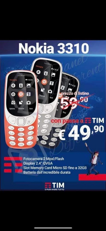 Nokia 3310 € 49,90