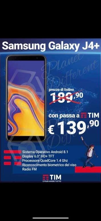 Samsung Galaxy J4+ € 139,90