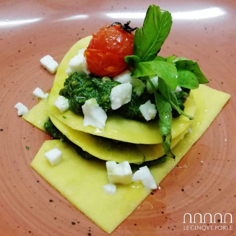 Lasagnetta con broccoli, salsiccia e fior di latte