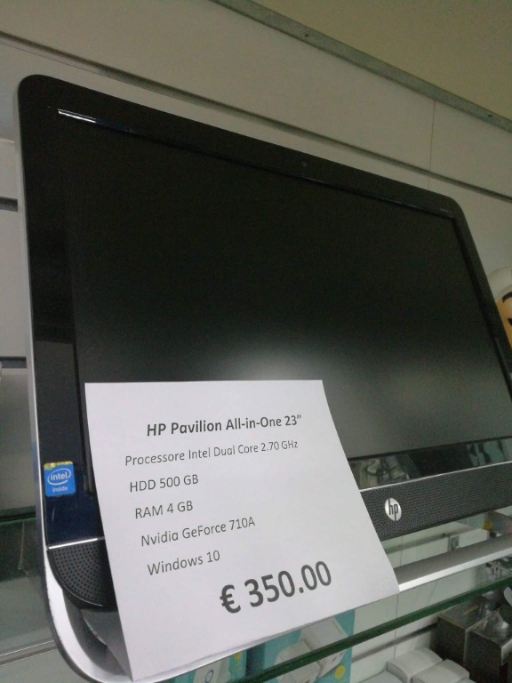 Hp Pavilion all in one 23 pollici 350€