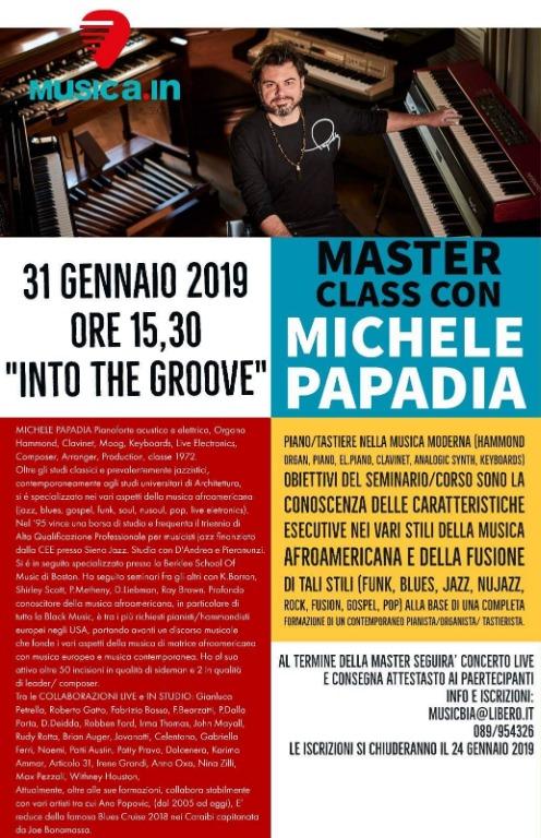 31 gennaio masterclass con Michele Papadia