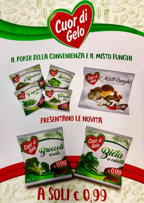 Il poker della convenienza e Il Misto Funghi presentano le novità Broccoli e Bieta A SOLI € 0,99