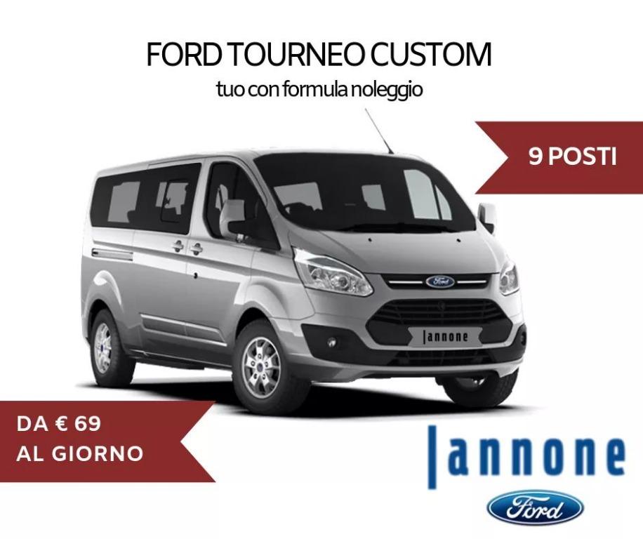 Noleggia Ford Tourneo Custom 9 posti da 69€ al giorno