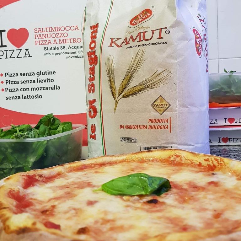 Impasti alternativi. Pizza con farina di kamut bio