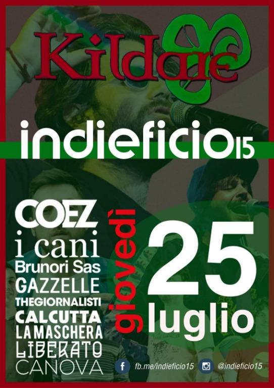 25 luglio INDIEFICIO live music