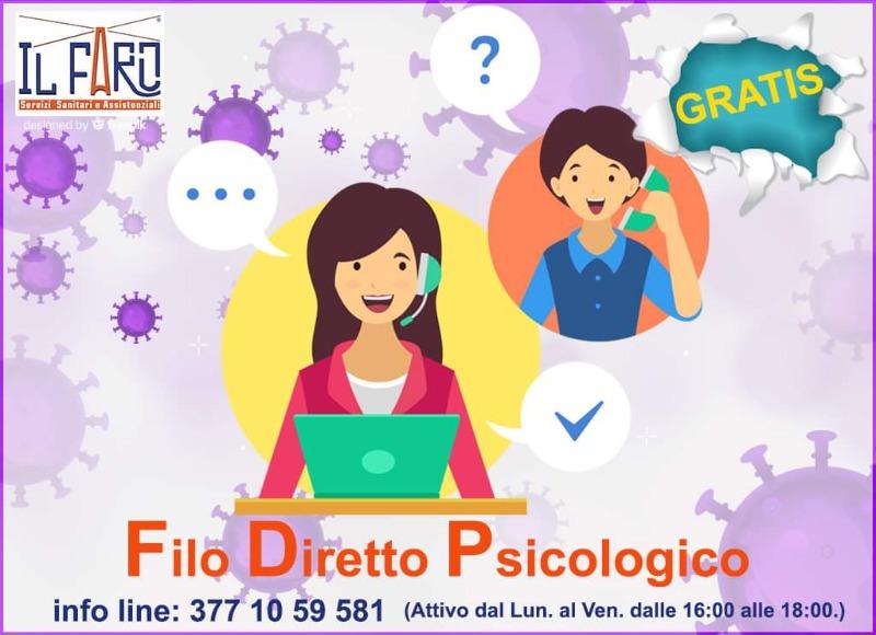 SUPPORTO PSICOLOGICO GRATUITO