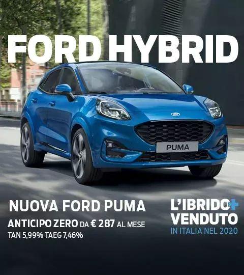 Elettrico? No, Ibrido! Nuova ford Puma, tua con anticipo zero con rate da 287€ al Mese