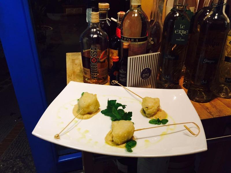 Baccalà in tempura su crema di Ceci di Cicerale