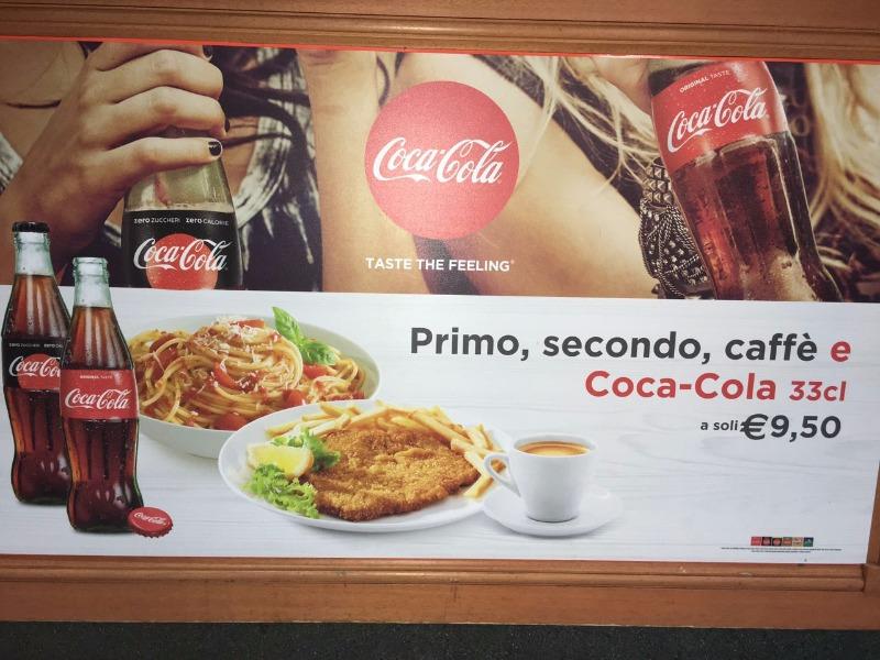 Primo, secondo, caffè e Coca Cola a soli 9,50€